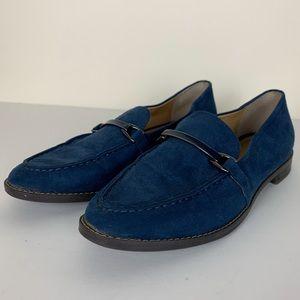 Franco Sarto Blue Suede Harrison Loafer Size 7M